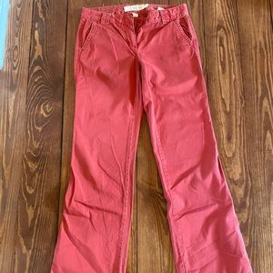 J.crew broken in chino city fit red pants 2